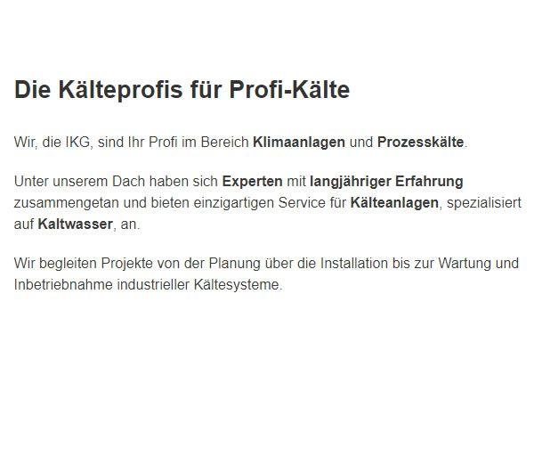 Kälteanlagen Wartung aus  Deutschland