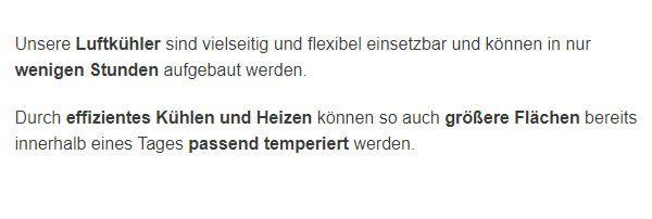 Kaltwasser Lueftungsgeraete mieten in  Deutschland