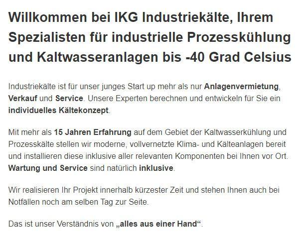 Industrie & Großanlagen Klimatechnik