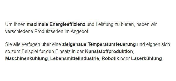 Maschinenkuehlung in  Deutschland