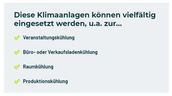 gewerbliche Klimaanlagen in  Deutschland