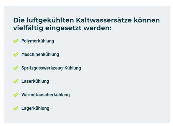 luftgekuehlte Kaltwassersaetze in  Deutschland