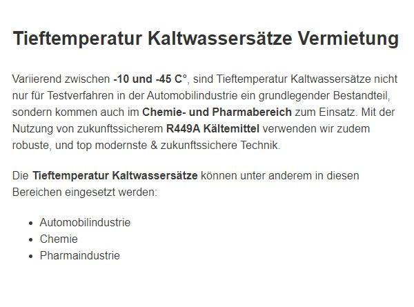 mobile Klimageraete V ermietung für  Deutschland