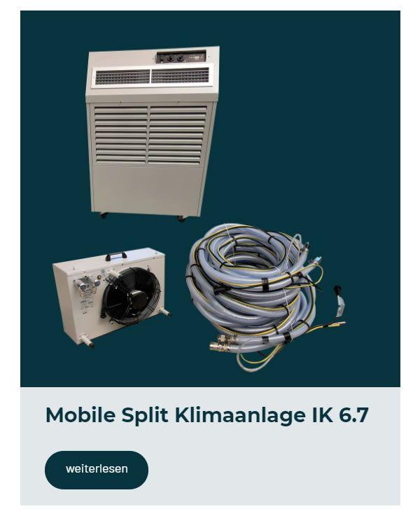 mobile Split Klimaanlage mieten für  Deutschland